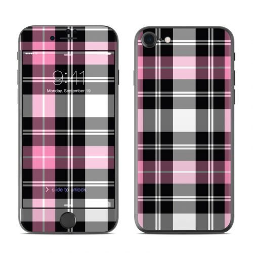 Pink Plaid iPhone 8 Skin