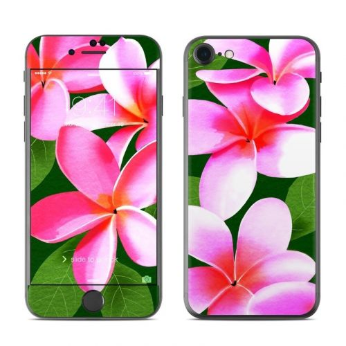 Pink Plumerias iPhone 8 Skin