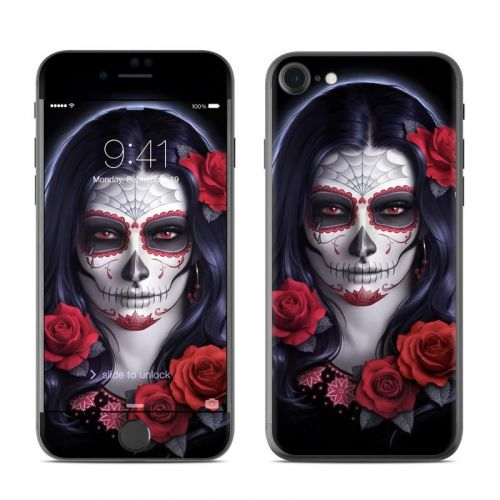 Sugar Skull Rose iPhone 8 Skin