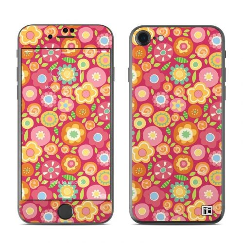 Flowers Squished iPhone 8 Skin
