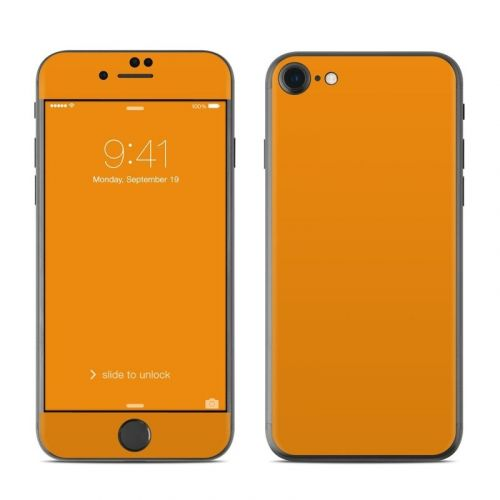 Solid State Orange iPhone 8 Skin