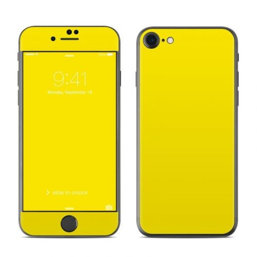 Solid State Yellow iPhone 8 Skin