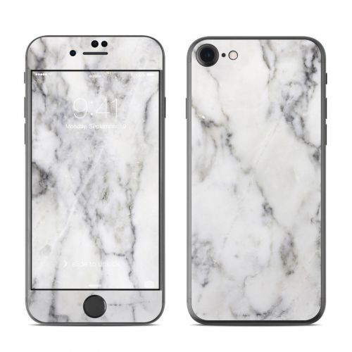 White Marble iPhone 8 Skin
