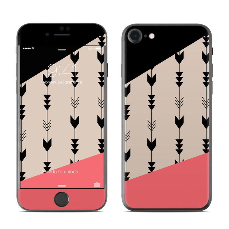iPhone 8 Skin design of Line, Pattern, Design, Font, Illustration with black, gray, pink colors