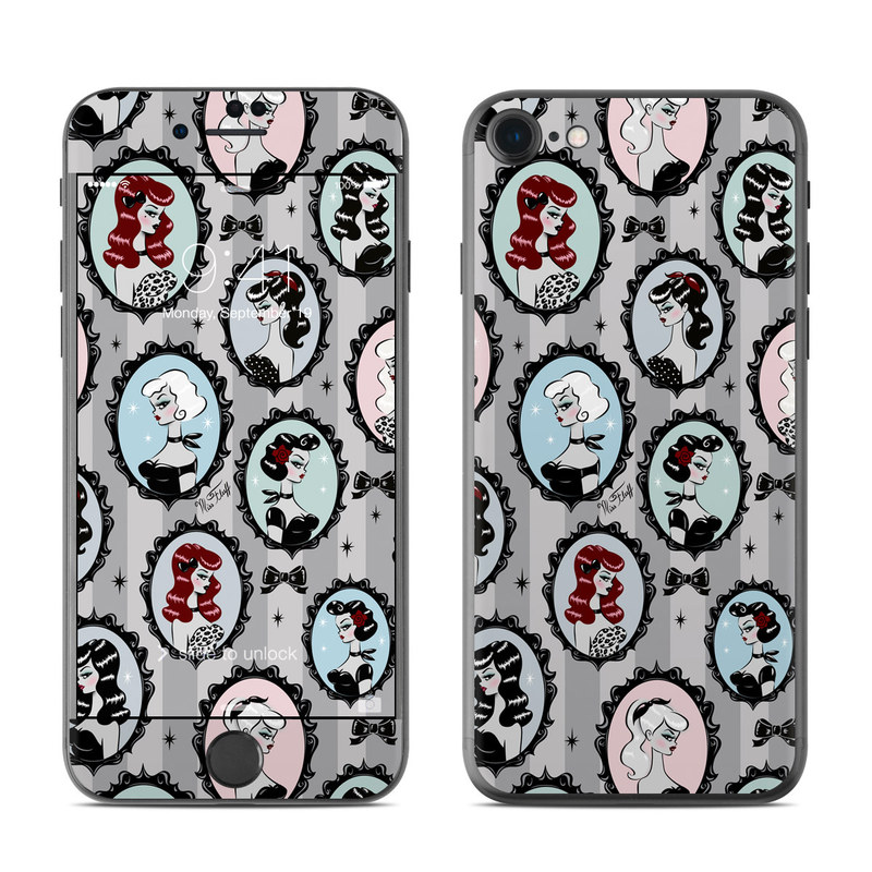 iPhone 8 Skin design of Pattern, Design, Textile, Visual arts, Circle, Art with black, blue, gray, yellow, red, pink colors