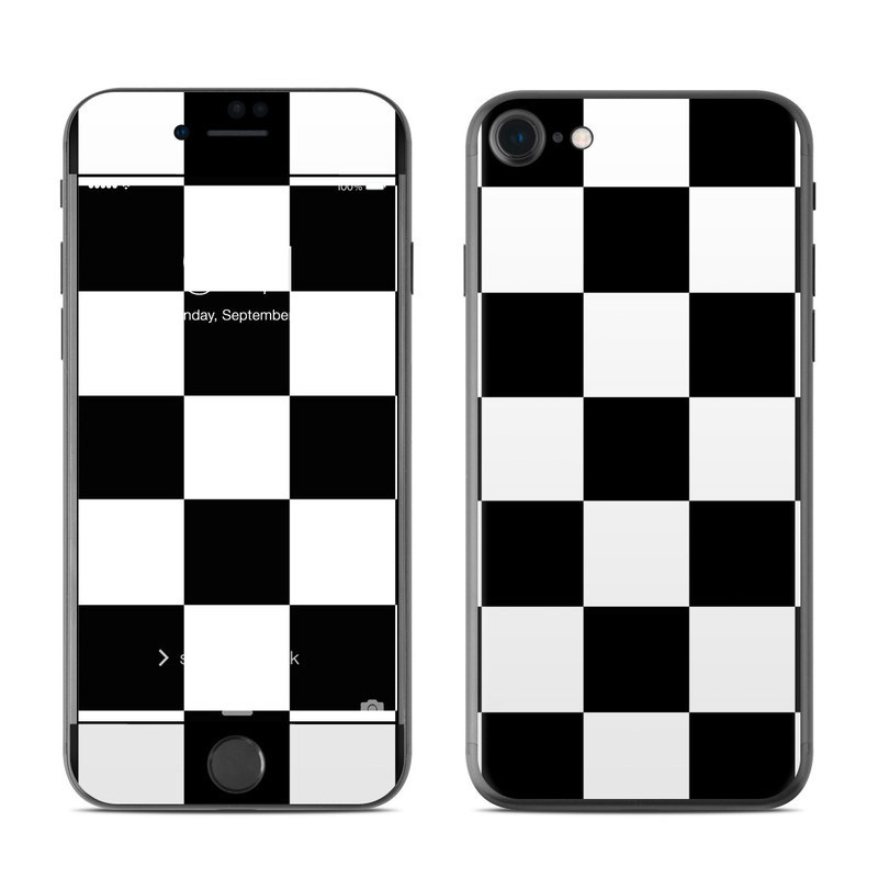 Iphone 8 Skin Design Of Black Photograph Pattern Indoor And