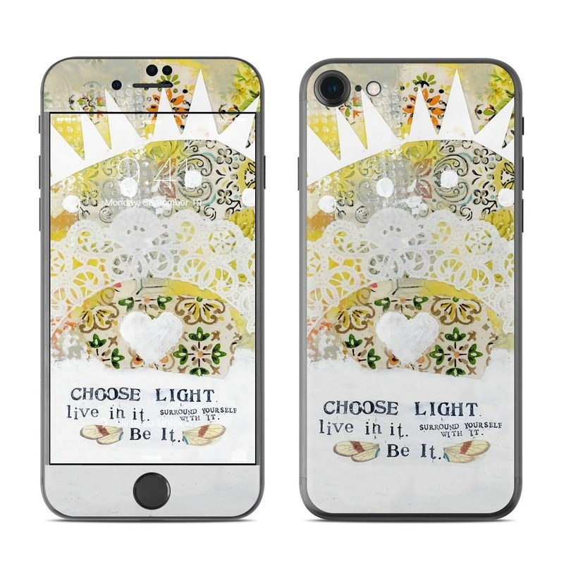 iPhone 8 Skin design of Font, Greeting card with yellow, white, green, orange, red, black colors