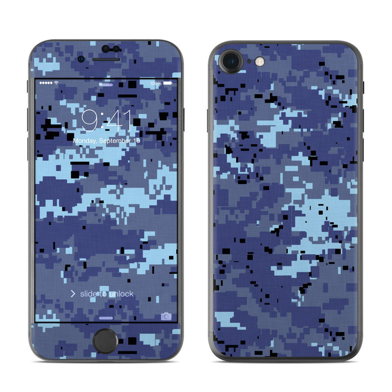 Digital Sky Camo iPhone 8 Skin