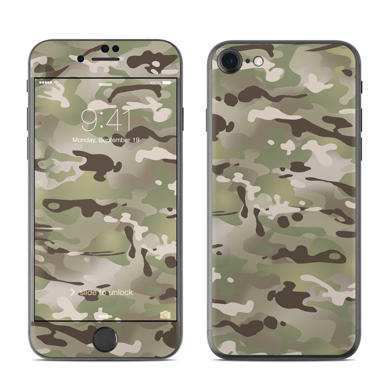 iPhone 8 Skin design of Military camouflage, Camouflage, Pattern, Clothing, Uniform, Design, Military uniform, Bed sheet with gray, green, black, red colors