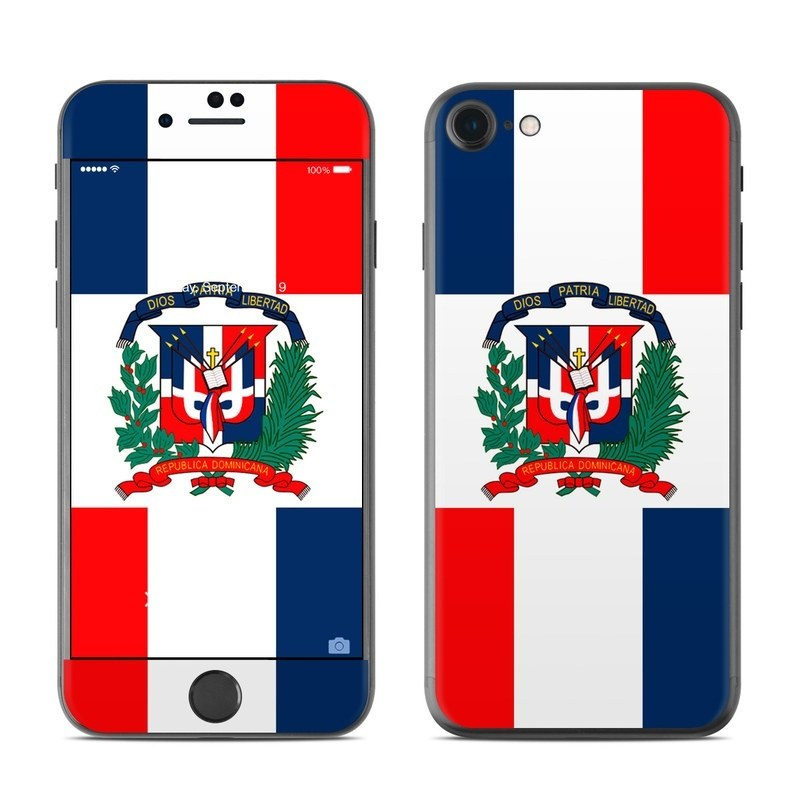 Dominican Republic Flag iPhone 8 Skin