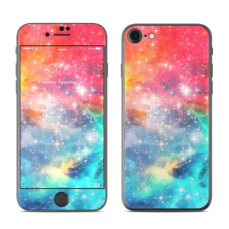 iPhone 8 Skin design of Nebula, Sky, Astronomical object, Outer space, Atmosphere, Universe, Space, Galaxy, Celestial event, Star with white, black, red, orange, yellow, blue colors