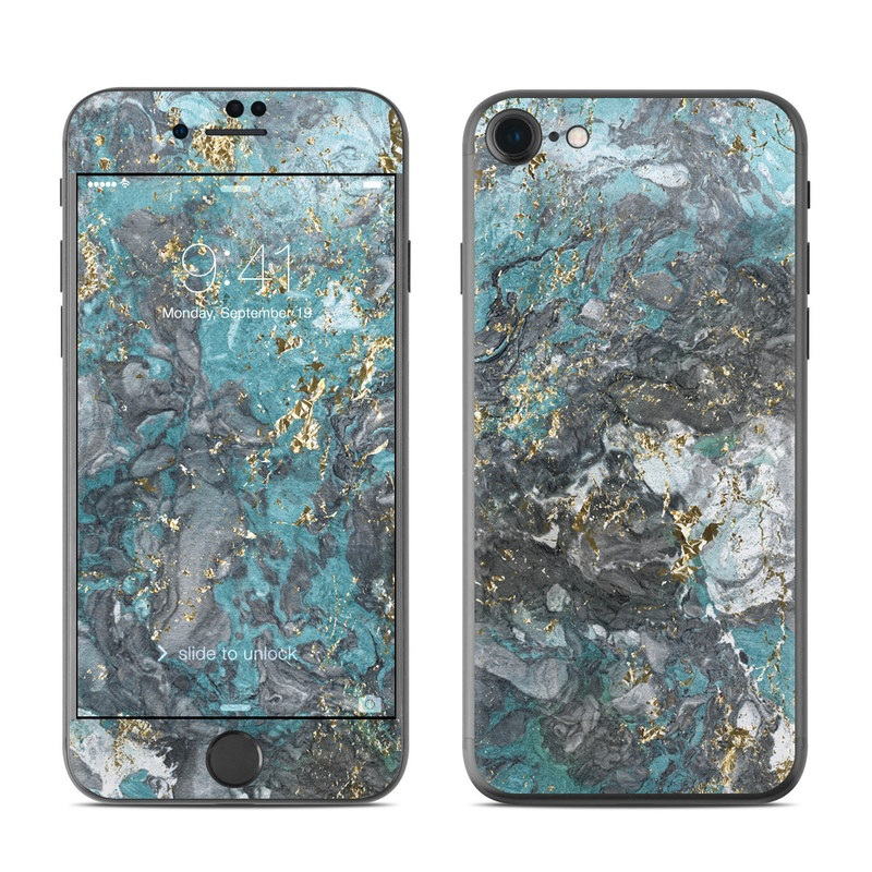 Gilded Glacier Marble iPhone 8 Skin
