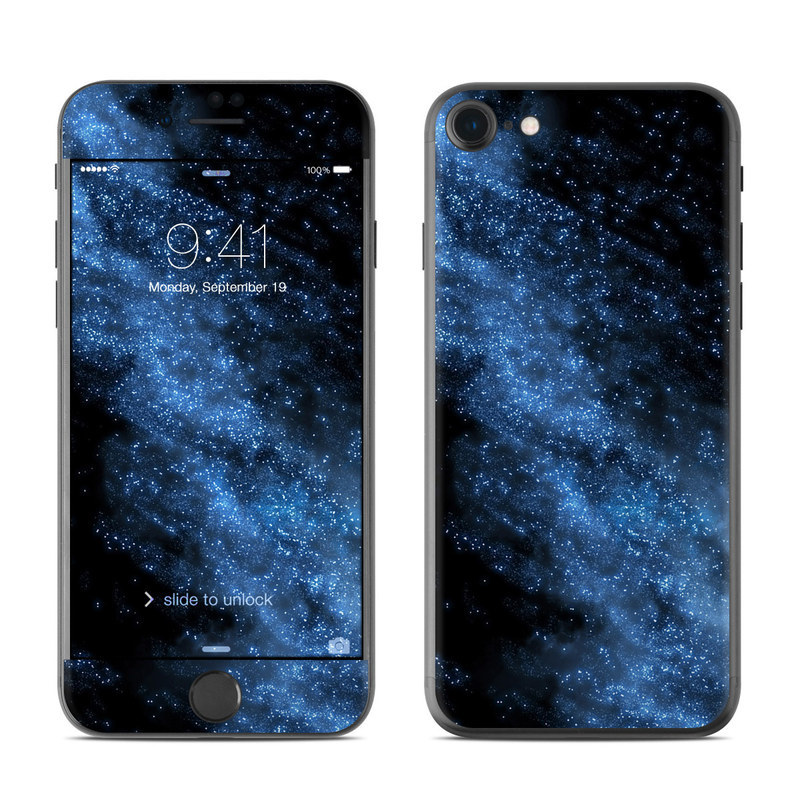 iPhone 8 Skin design of Sky, Atmosphere, Black, Blue, Outer space, Atmospheric phenomenon, Astronomical object, Darkness, Universe, Space with black, blue colors