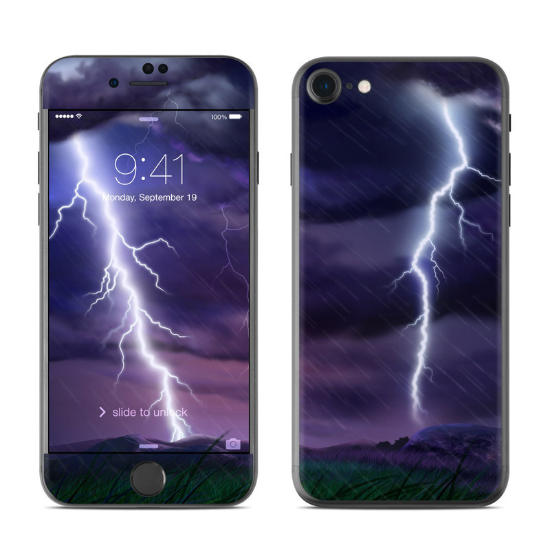 Purple Strike iPhone 8 Skin