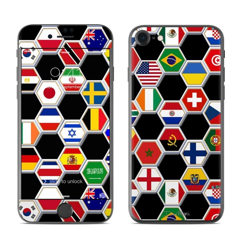 iPhone 8 Skin design of Pattern, Games, Symmetry, Design, Square, Indoor games and sports with black, gray, red, white, blue, green colors