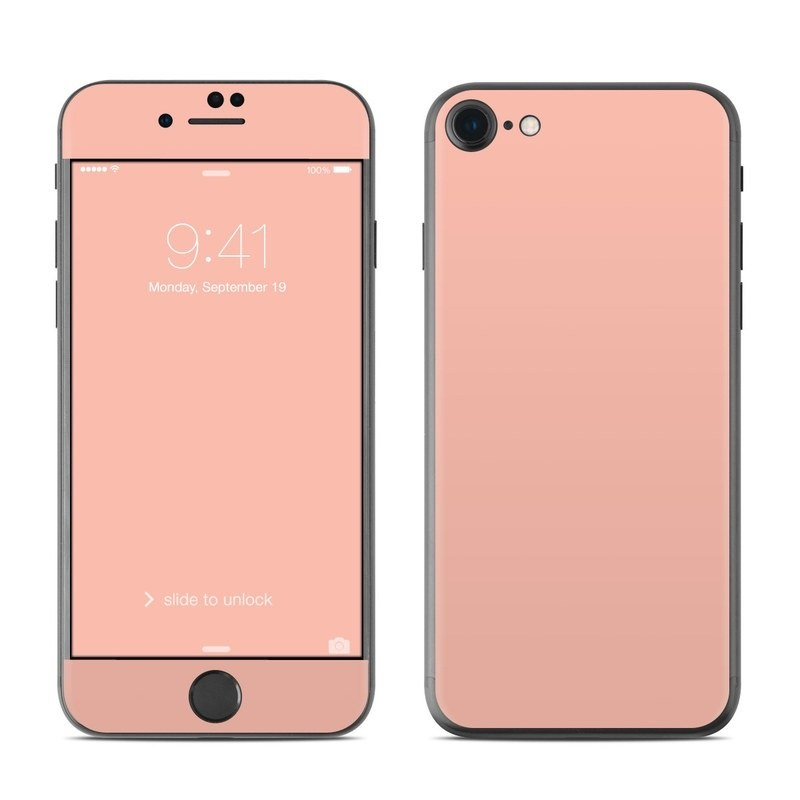 Solid State Peach iPhone 8 Skin