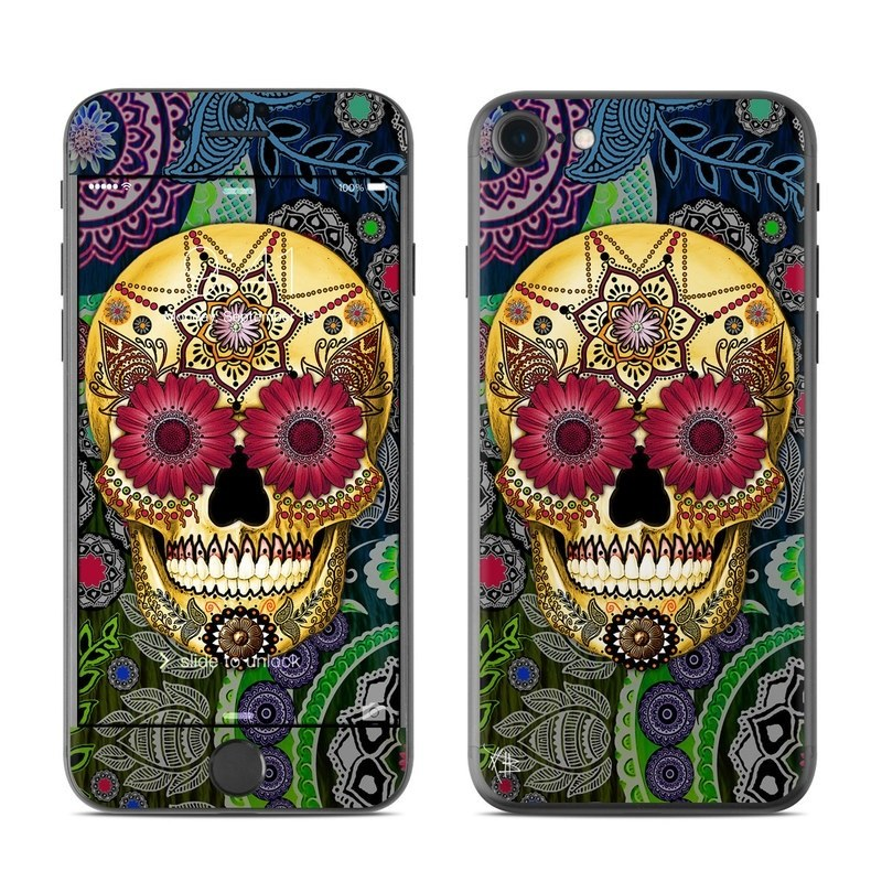 Sugar Skull Paisley iPhone 8 Skin