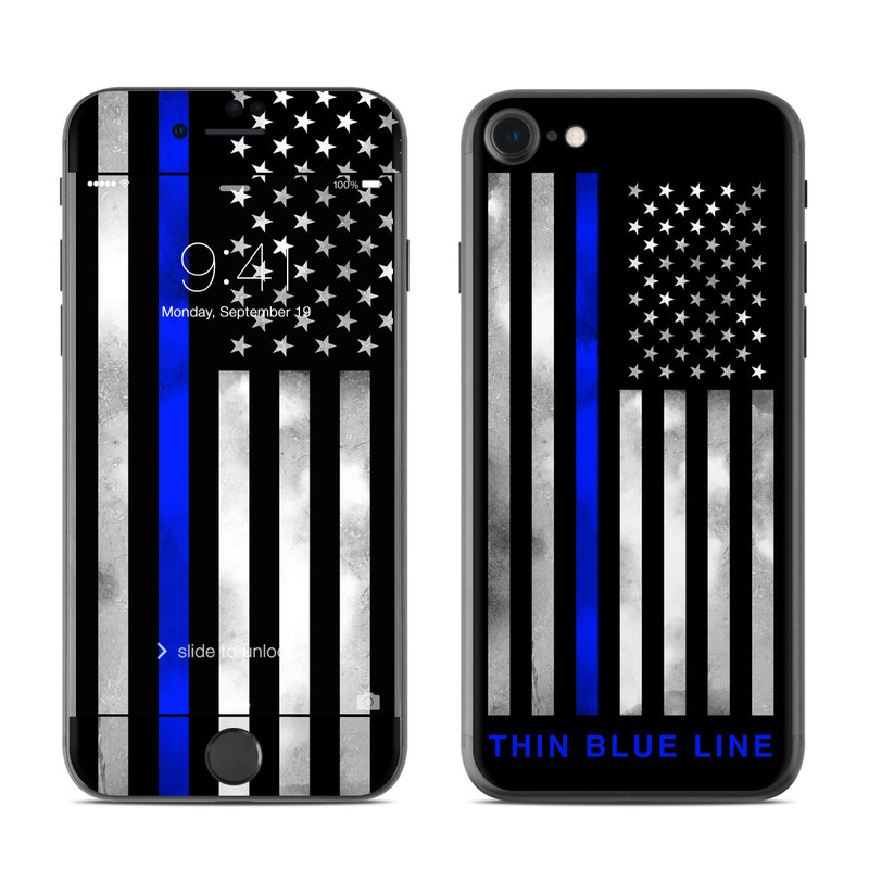 iPhone 8 Skin design of Line, Flag, Text, Flag of the united states, Font, Parallel, Symmetry, Black-and-white, Pattern, Graphics with black, white, gray, blue colors
