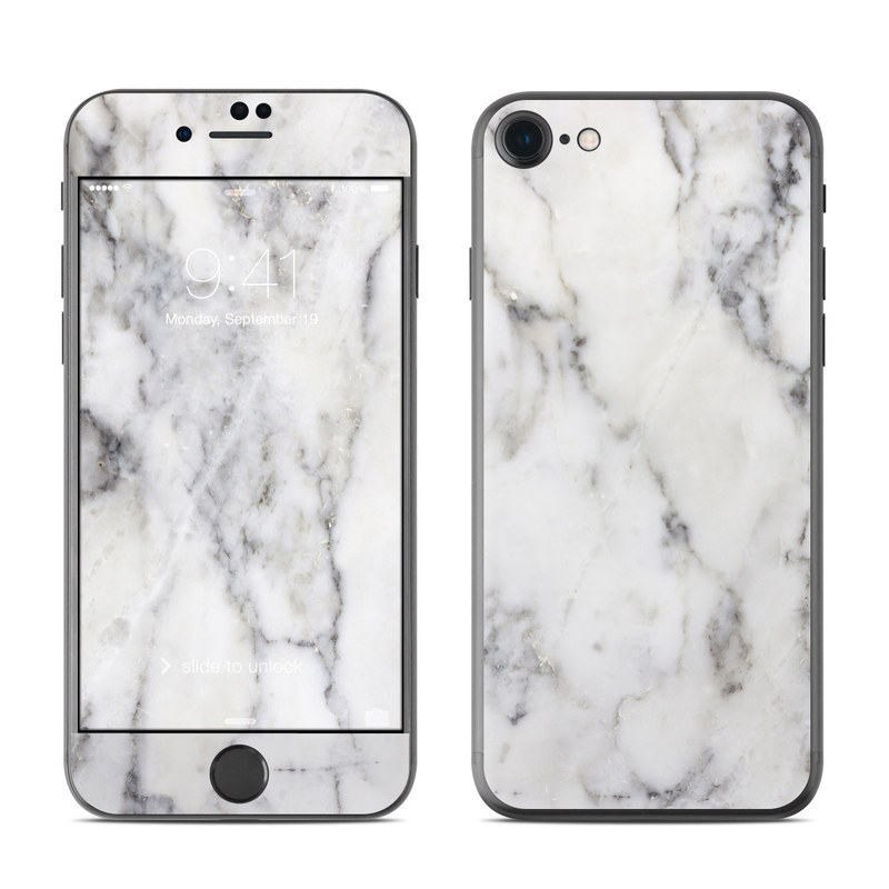 iPhone 8 Skin design of White, Geological phenomenon, Marble, Black-and-white, Freezing with white, black, gray colors