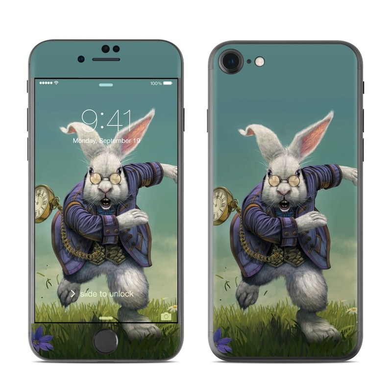White Rabbit iPhone 8 Skin