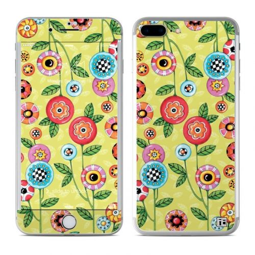 Button Flowers iPhone 8 Plus Skin