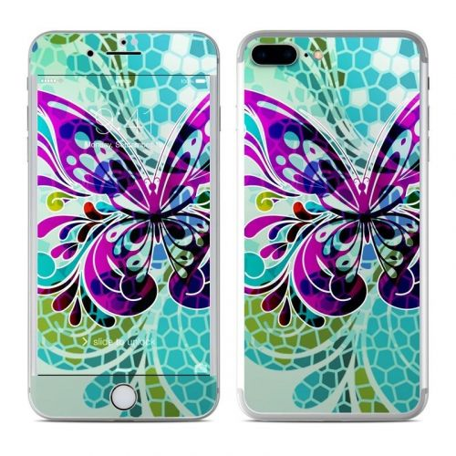 Butterfly Glass iPhone 8 Plus Skin