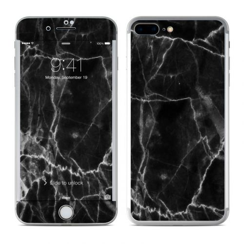 Black Marble iPhone 8 Plus Skin