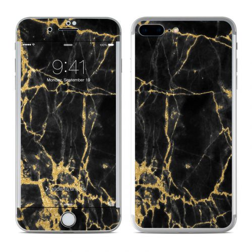 Black Gold Marble iPhone 8 Plus Skin
