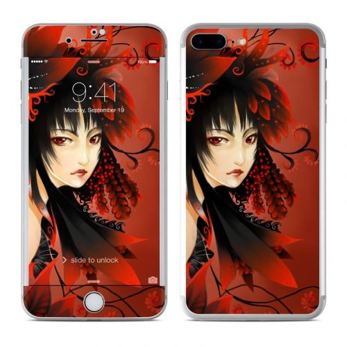 Black Flower iPhone 8 Plus Skin