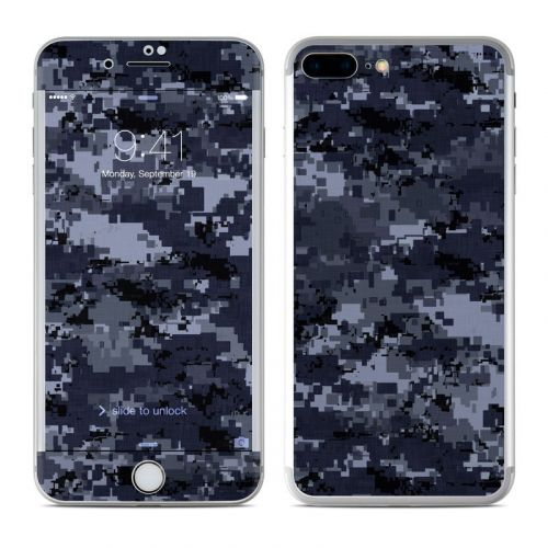 Digital Navy Camo iPhone 8 Plus Skin