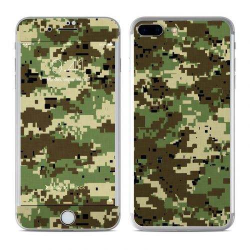 Digital Woodland Camo iPhone 8 Plus Skin