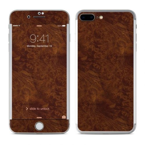 Dark Burlwood iPhone 8 Plus Skin