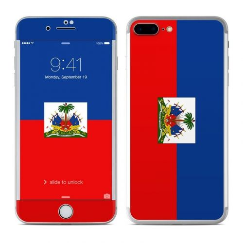 Haiti Flag iPhone 8 Plus Skin