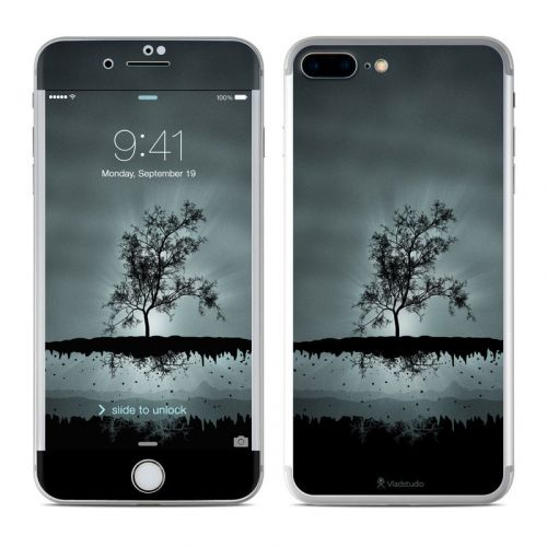 Flying Tree Black iPhone 8 Plus Skin