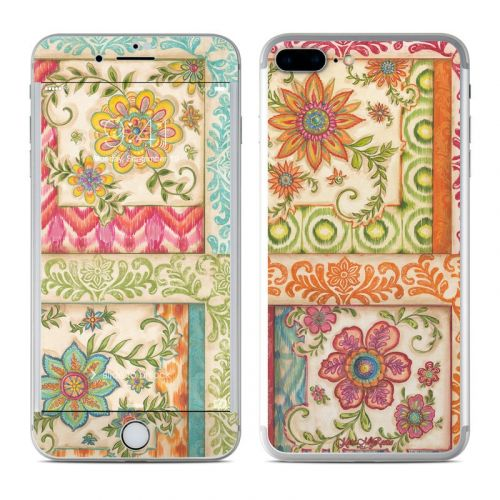 Ikat Floral iPhone 8 Plus Skin