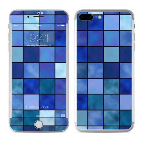 Blue Mosaic iPhone 8 Plus Skin