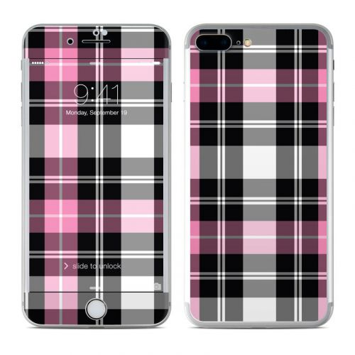 Pink Plaid iPhone 8 Plus Skin