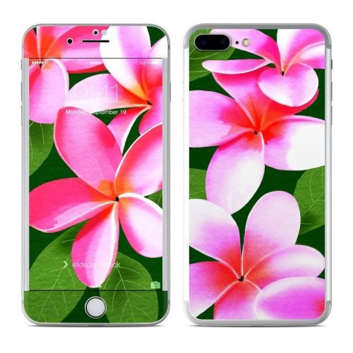Pink Plumerias iPhone 8 Plus Skin