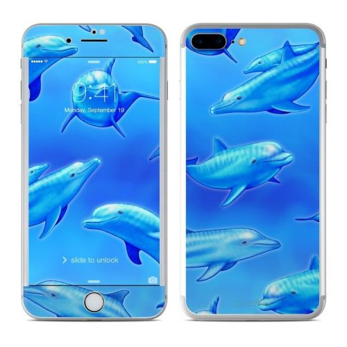 Swimming Dolphins iPhone 8 Plus Skin