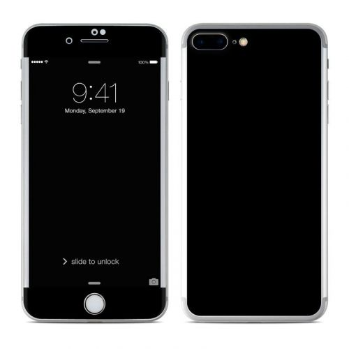 Solid State Black iPhone 8 Plus Skin