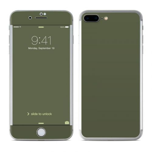 Solid State Olive Drab iPhone 8 Plus Skin