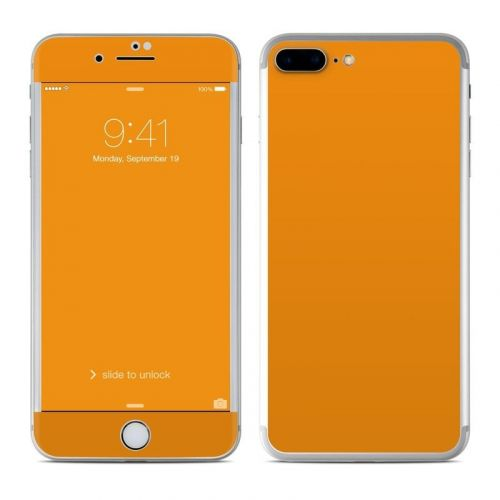 Solid State Orange iPhone 8 Plus Skin
