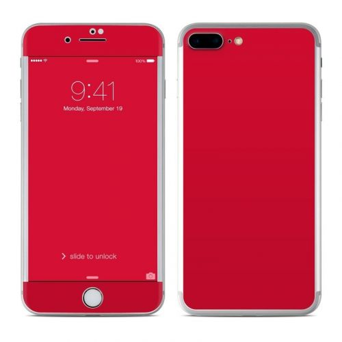 Solid State Red iPhone 8 Plus Skin