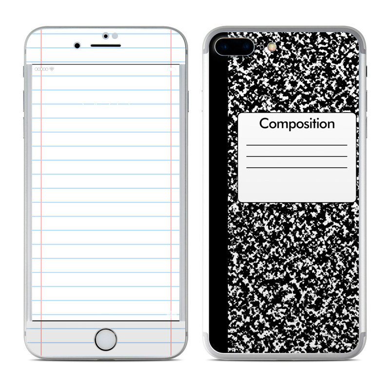 Composition Notebook iPhone 8 Plus Skin