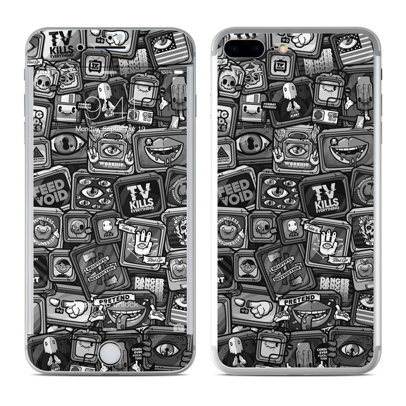 iPhone 8 Plus Skin design of Font, Text, Pattern, Black-and-white, Design, Photography, Stock photography, Illustration, Monochrome, Drawing with black, white, gray colors