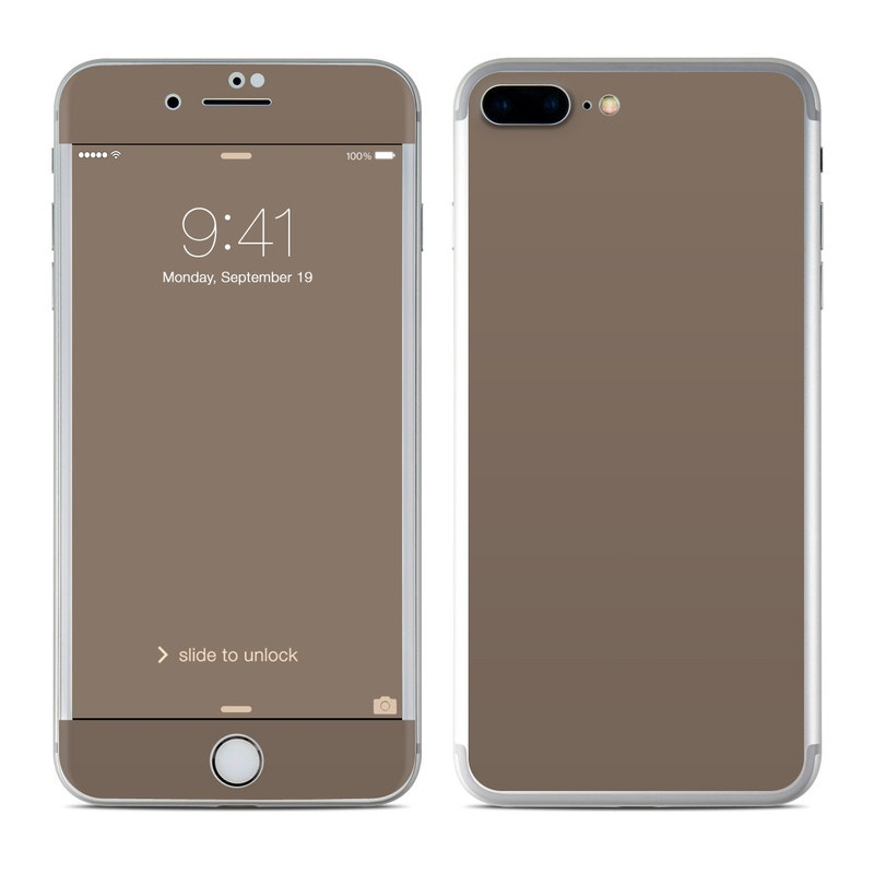 Solid State Flat Dark Earth iPhone 8 Plus Skin