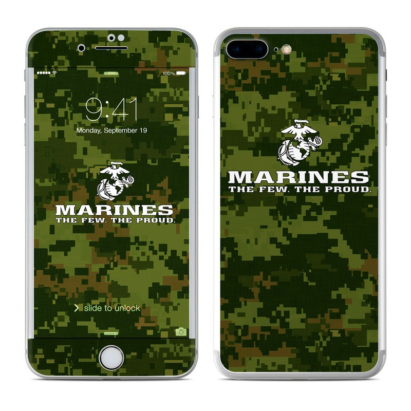iPhone 8 Plus Skin design of Green, Military camouflage, Font, Pattern, Design, Tree, Logo, Camouflage, Illustration, Plant with black, gray, white colors