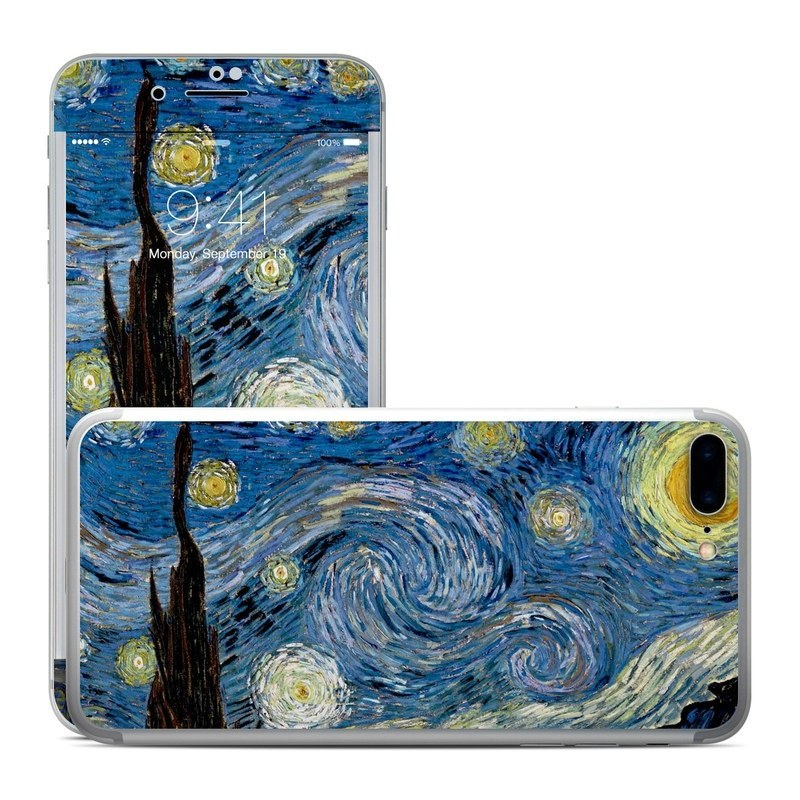 iPhone 8 Plus Skin design of Painting, Purple, Art, Tree, Illustration, Organism, Watercolor paint, Space, Modern art, Plant with gray, black, blue, green colors