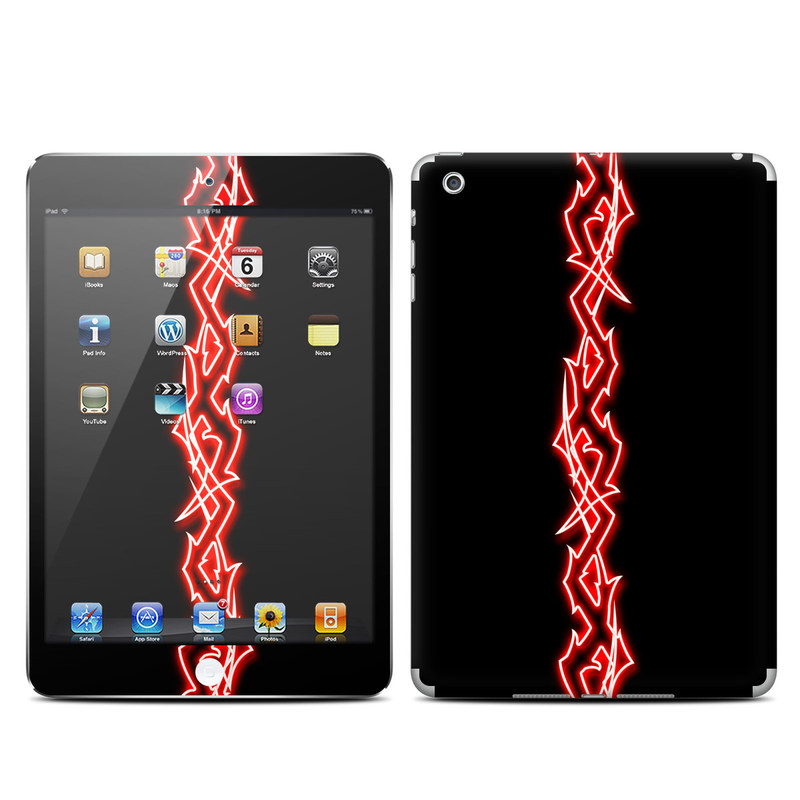 iPad mini 1 Skin design of Red, Neon, Font, Neon sign, Signage, Electronic signage with black, red colors