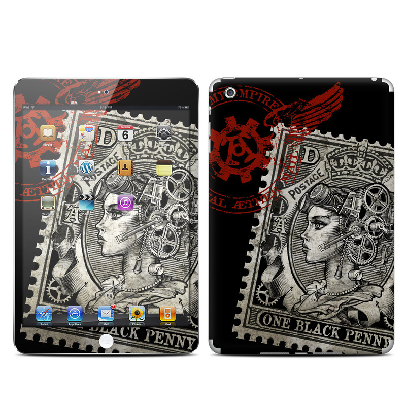 Black Penny iPad mini Skin